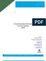 UnicaEducation-Course Catalog 2009 Final