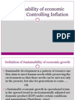 Sustainability of Economic Growth and Controlling Inflation