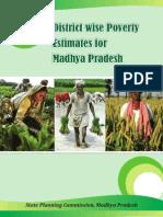 District Wise Poverty Estimates