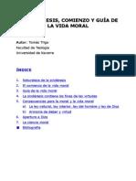 LA SINDÉRESIS, COMIENZO Y GUÍA DE LA VIDA MORAL