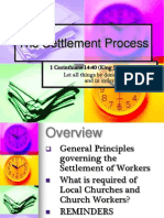 The Settlement Process Revised 2011