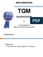 Integrating TQM and E-Learning in Classrooms