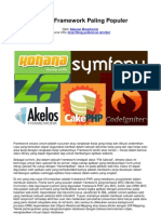10 PHP Framework Paling Populer