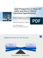 2 Global Perspective on Base Oil Quality How It Affects Lube Specs JRosenbaum Chevron DAP Forum April 20 2010