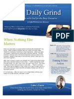 When Nothing Else Matters - The Daily Grind - Devotional For Men