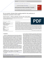 On an acoustics–thermal–fluid coupling model for the prediction of