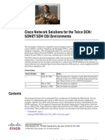 Cisco DCN Solution in SONET/SDH Environment