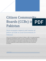 Citizen Community Boards in Pakistan
