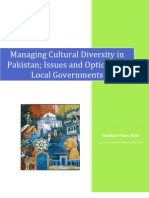 Managing Cultural Diversity in Pakistan