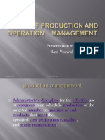 Scope of Production and Operation Management