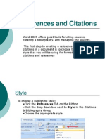 Ms-Word References and Citations