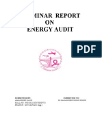Final Seminar Report on Energy Audit