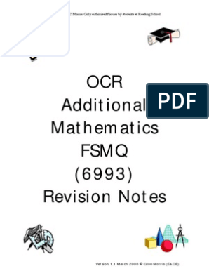 Additional Mathematics Notes Pdf