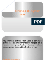 Cyber Crimes & Cyber War