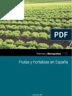FRUTAS Y HORTALIZAS EN ESPAÑA