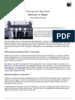 Fuehrung durch Psychologie - Seminar in Essen