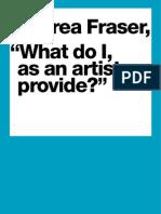 Andrea Fraser introductory Kemper Brochure