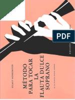 Monkemeyer - Metodo Para Flauta Doce Soprano