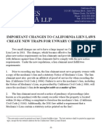 Important Changes to California's Lien Laws
