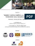 Audiencia Mujeres y Justicia Climatica 2011-Argentina Documento Preliminar