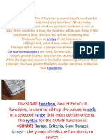 Lecture on if Functions