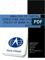 Analysis of Capital Structure and Dividend Policy of Bank Al