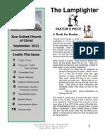 Zion UCC September Newsletter