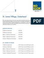 BoKlok Price List St. James Village, Gateshead Ikea