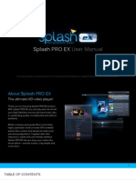 SplashPRO EX User Manual
