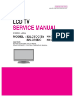Lcd Tv 32lc5dc, 32lc50dc (Chassis La64a) Service Manual