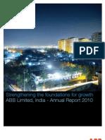 ABB India Annual Report 2010