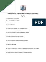 Preguntas de Examen de La Especial Id Ad
