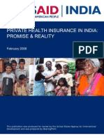 Pvt HI in India - USAID Report