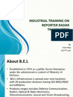 Industrial Training on Reporter Radar Transmitter