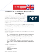 IELTS Speaking Exam Hints and Tips