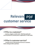 Relevance of Customer Service
