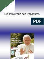 Die Intoleranz Des Papsttums