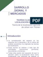 Teorías clásicas de localización Johan von Thünen