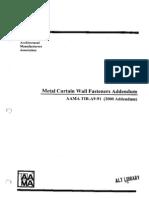 Metal Curtain Wall Fasteners-2000 Addendum[1]