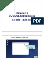 Initiation Comsol v3