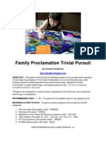 Family Proclamation Game by Jocelyn Christensen