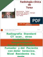 Radiología  del  Tórax  Residente Nivel I.   Ira.  Parte.