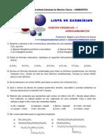 LISTA DE EXERCÍCIOS_F_ORGÂNICAS – I_HIDROCARBONETOS 2011 2oBimest