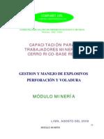 Modulo de Perforacion y Voladura