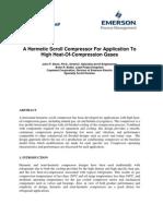Hermetic Scroll Compressor Whitepaper