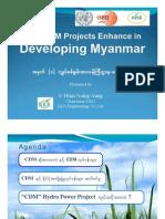 How CDM Project Enhancing in Developing Myanmar