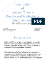 Construction of Telicom Towers Quality and Productivity Improvement