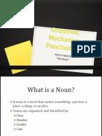 Parts of Speech- The Noun