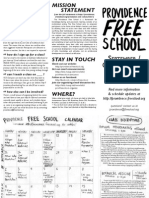 Providence Free School September-October 2011 calendar