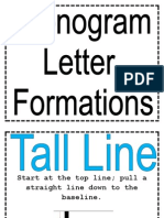 Phonogram Letter Formations